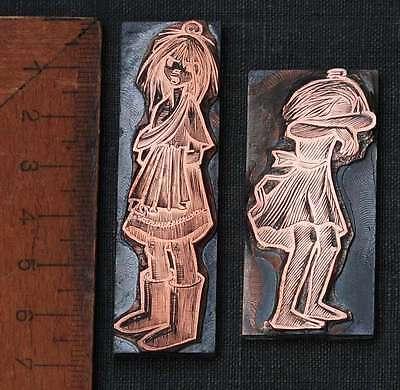 MÄdchen Galvano Druckstock Kupferklischee Druckplatte Eichenberg Kind Kinder
