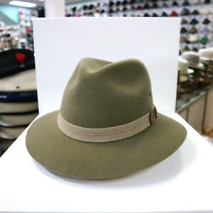 Image is loading MALLORY-BY-STETSON-OUTBACK-STYLE-MOSS-GREEN-WOOL- 6775ee9a228