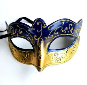 Masquerade-Mask-Gold-Blue-Venetian-Style-Carnival-Theme-Fancy-Dress-Mask