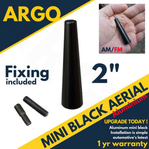 "Black Bee Sting Antenne Voiture Mât Ariel Mini Radio Stubby Am//Fm 2 /"""