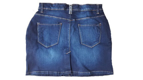 UK Womens Celeb Denim Mini Skirt Jean Jeans Stretch Fade