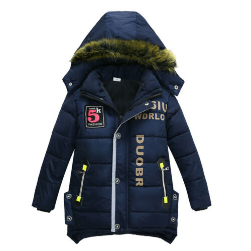 Children Kids Coat Boys Girls Solid Winter Warm Thick Coat Padded Jacket Clothes