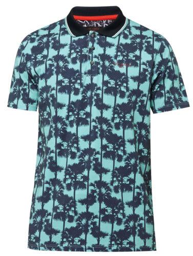 Genuine New Original TedBaker Men/'s Golfed PalmTree Print Polo Tshirt RRP £79.00