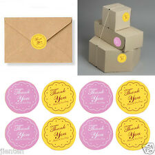 120Pcs Thank you Letter Paper Labels Stickers Seals Colorful Round Sealing Paste