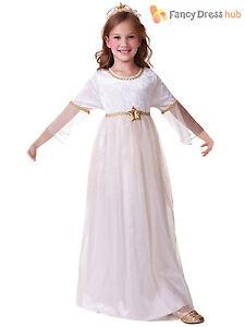 cda103610aeb0 Image is loading Girls-Christmas-Angel-Costume-Nativity-Fancy-Dress-Outfit-