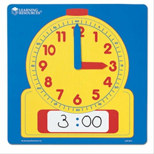 1 Write /& Wipe Tell//Teach The Time Clock Maths Home Education//schooling Resource