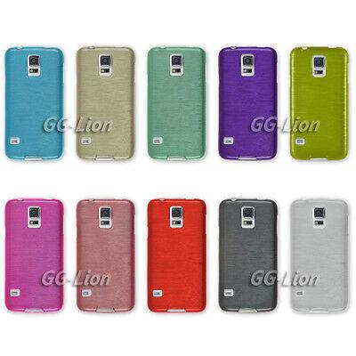 For Samsung Galaxy S5 mini, G800F/G800H Gel Brushed TPU Case Cover Skin