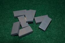 (8) DARK GRAY 1x2 Smooth Finishing Tile Brick Bricks  ~ Lego  ~ NEW