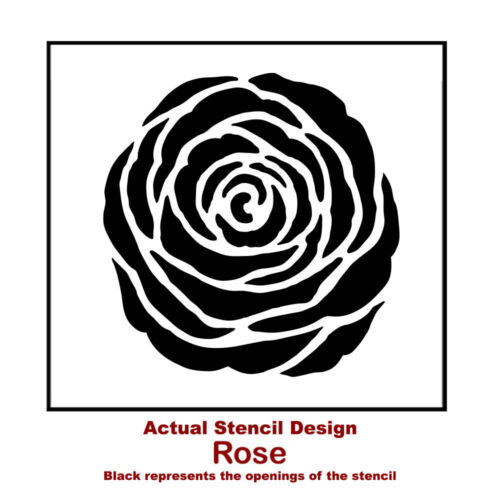 Rose Stencil Wall Art SMALL Easy to Use Stencils for Walls /& Crafts!