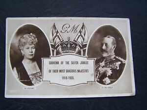 POSTCARD-ROYALTY-EXCEL-KING-GEORGE-V-QUEEN-MARY-30-039-s-VINTAGE-ATTIC-FIND