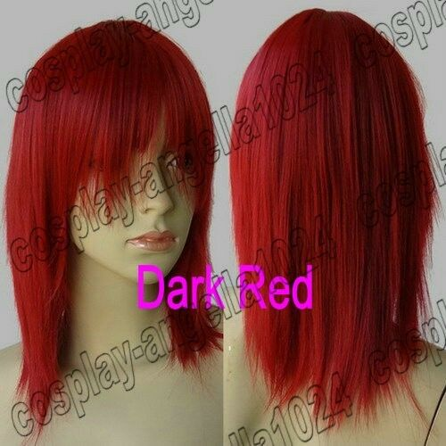Synthetic 16/20in. Long 40/50cm Medium Straight Cosplay Wig Free Shipping 51/697