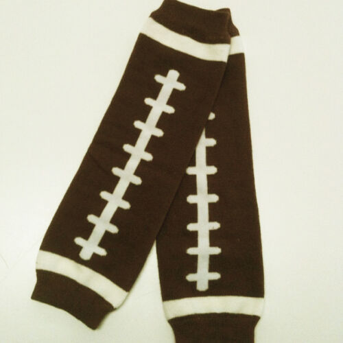 1Size Fits All Free Shipping 0040 Football Design USA SELLER BABY LEG WARMERS