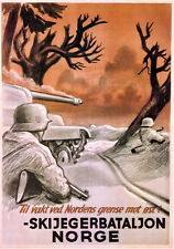 German WW2 Norwegian Waffen SS large Poster