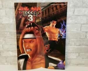 Tekken 3 Original Poster Vintage Vtg Electronic Gaming Monthly Egm Fighting Game Ebay