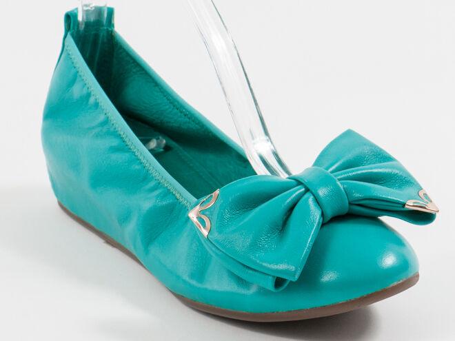 New  Francesco V. Green Bow Pelle shoes Size 39 US 9