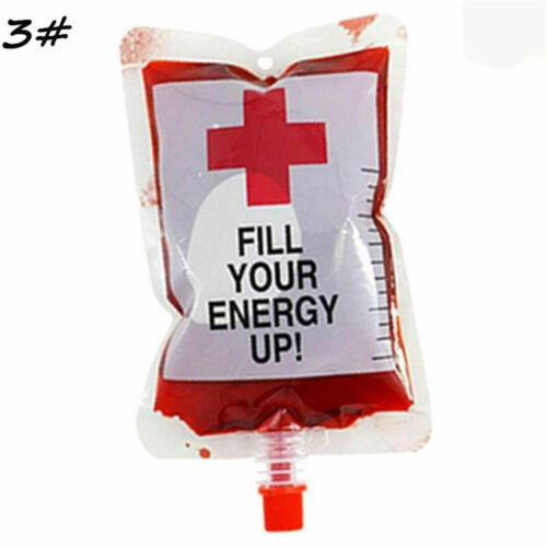 Reusable Cups Blood Bags for Drinks Halloween Props Vampire Cosplay Pouch UK