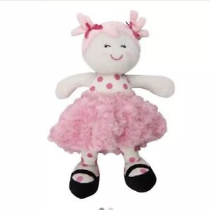 Baby Starters Soft Plush Snuggle Buddy Doll Pink And White
