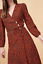 ROUJE Gabin Dress Red Lip Print Size 38 Orig $190 NWT