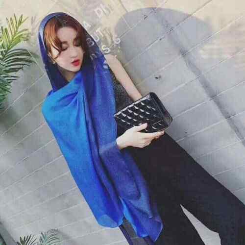 Plain Scarf Design 100/% Silk Black /& Gold Oversized Softest Scarves Wrap Shawl