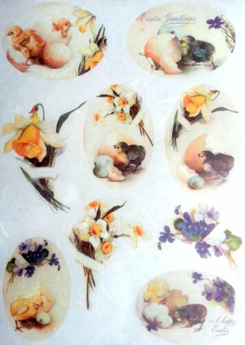 Rice Paper for Decoupage Scrapbooking Sheet Craft  Easter Day Chick 3 Art E44