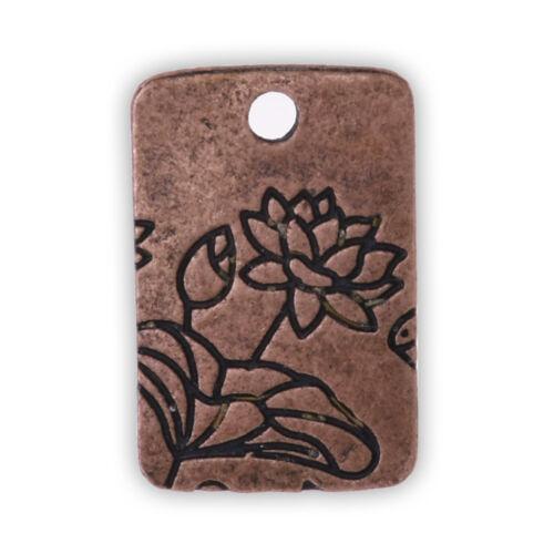 20 Metal Flower Charm Lotus Pendant Vintage Charms Lotus jewelry 13X18mm