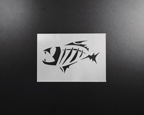 Fish Skeleton Stencil Airbrush Wall Art Craft Painting Home Decor DIY Reusable