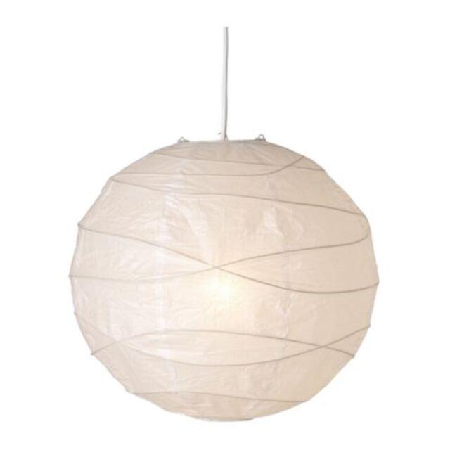 Ikea Regolit Handmade 45cm White Unique Rice Paper Pendant Ceiling Light Shade