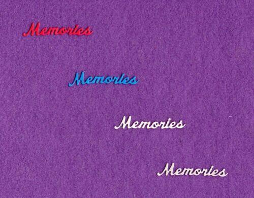 MEMORIES die cuts scrapbook cards