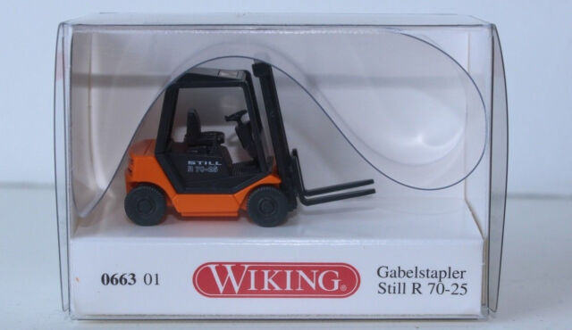 schwarz  #4880 Wiking 1//87 Still R 70 Gabelstapler orange