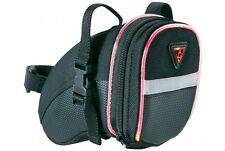 Topeak TIG-AW02 IGlow SMALL Aero Wedge Bike Seat Bag QR Straps Pack Black