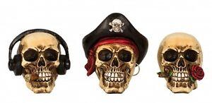 Totenkopf-Schaedel-Totenkoepfe-Gothic-Skull-Dekoration-Larp-12-16-cm-Mystik-Deko