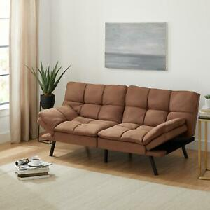 Memory Foam Futon Sofa Bed Couch Sleeper Convertible FULL Size Loveseat Foldable