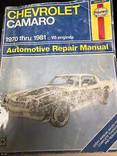 Haynes VTG SHOP Repair Manual #554 Chevrolet Camaro 1970-1981 V8 ENGINES 24015