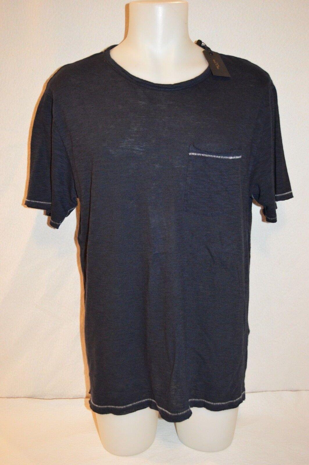 RAG & BONE Man's LINEN Crew Neck OWEN T-shirt  NEW  Größe X-Large Retail  135