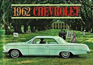 1962 Chevrolet Impala SS 409 Bel Air Biscayne Wagons NOS Deluxe Sales Brochure