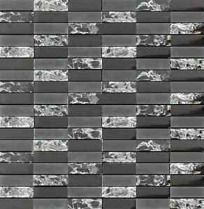 sparkle series black small subway mosaic tiles backsplash tile