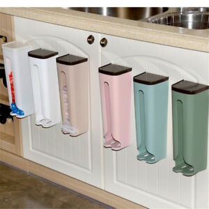 Home-Grocery-Bag-Holder-Wall-Mount-Storage-Dispenser-Plastic-Kitchen-Organ-xiYL