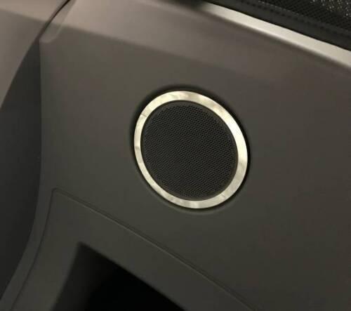 D BMW z4 e85 Cromo Anello per altoparlanti posteriori-acciaio inox lucidato