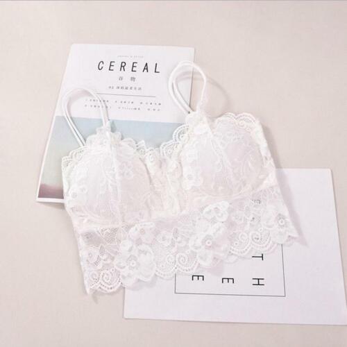 Women/'s Sleeveless Lace Vest Crochet Tank Blouse Bralette Bra Cami Crop Tops Q