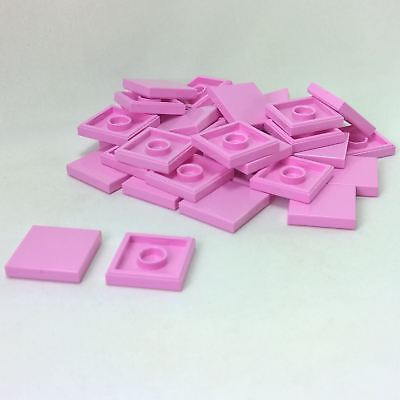 LEGO x 100 Bright Pink Tile 1 x 1 with Groove NEW bulk lot