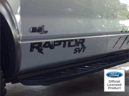 VINYL COLORS 2013 2014 10-14 FORD RAPTOR F-150 SVT DOOR PAIR DECALS STICKERS 60