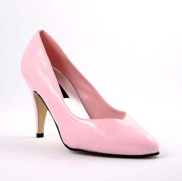 Dream-420 Pleaser extra Weite bequeme Damen Mädchen Pumps babypink rosa Gr 37