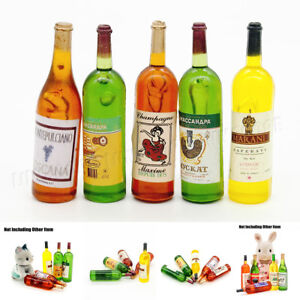 5-Wine-Juice-Bottles-1-12-Kitchen-Dining-Drink-Miniature-Toy-For-Re-ment-Orcara