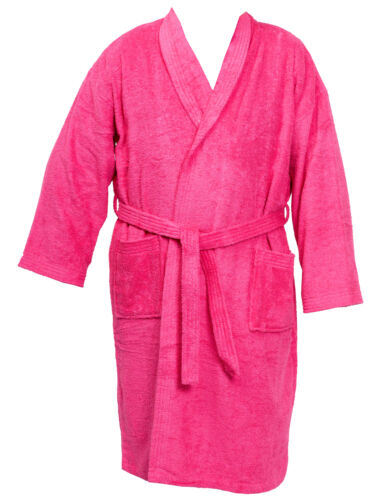 Unisex Bathrobe Cotton Terry Towelling Dressing Gown Mens Womens Wrap Style XXL