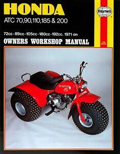 s l300 honda atc 70 90 110 185 200 trike atv repair manual 565 ebay