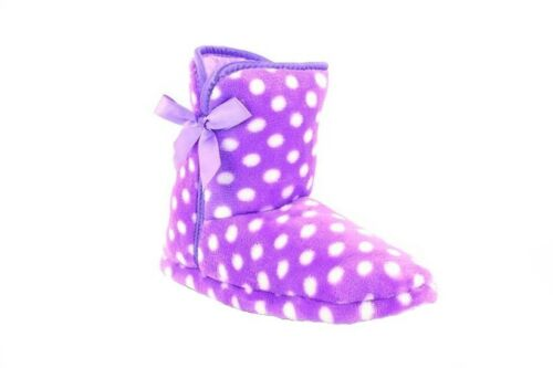 Winter Ls300 Bootee P Zedzzz Slippers Jessica Spotted Lilac Indoor Warm XOwq5FxqC
