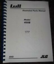 Lull Jlg 400b Series Telehandler Forklift Illustrated Parts Manual Book Catalog