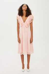 Ex-TopShop-frill-neck-detail-dress-Size-6-8-10-12-14-16-RRP-65