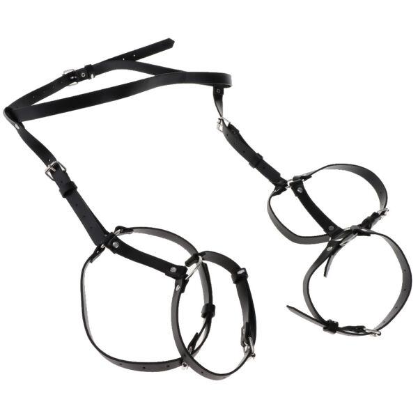 Sex Leder Taille Bein Harness Strumpfbandschnalle Cincher Cosplay Requisiten
