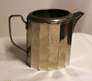 Kännchen, Kaffee Tee Milch Kanne Metall versilbert WMF Deko antik #6297